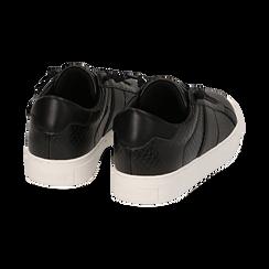 Sneakers noires imprimé vipère, Primadonna, 162619071EVNERO036, 004 preview
