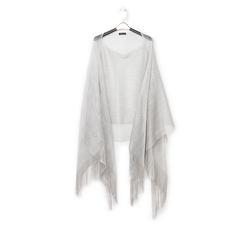 Poncho argento in tessuto laminato , Abbigliamento, 13B445057LMARGEUNI, 001a
