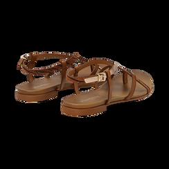 Sandali infradito cuoio in eco-pelle, Primadonna, 13B961532EPCUOI036, 004 preview