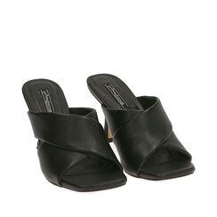 Mules nere, tacco 8 cm , Primadonna, 172791812EPNERO035, 002a