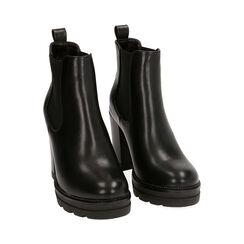 Bottines Chelsea noir, talon 9 cm, Primadonna, 160622452EPNERO037, 002 preview