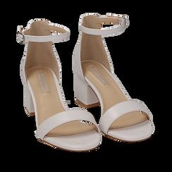 Sandalias en eco-piel color blanco, tacón 5,50 cm, 152707031EPBIAN035, 002a