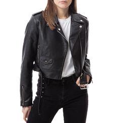 Biker jacket nera , Primadonna, 176522222EPNEROL, 001a