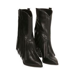 Santiags noirs, talon 8,5 cm, Primadonna, 172139014EPNERO035, 002 preview