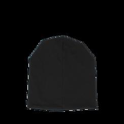 Cappello nero in tessuto con cristalli, Abbigliamento, 14B406053TSNEROUNI, 002a