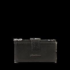 Portafogli nero stampa vipera , Primadonna, 165122158EVNEROUNI, 001a