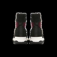 Sneakers nero-rosse sock boots con suola in gomma bianca, Primadonna, 124109763TSNERS036, 003 preview