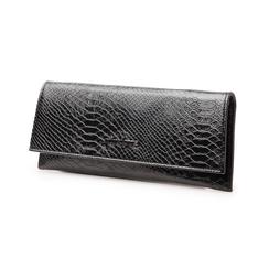Pochette piatta nera in laminato, Borse, 145122509LMNEROUNI, 004 preview