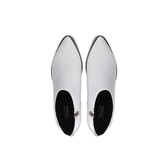 Tronchetti bianchi con zip, tacco medio 4,5 cm, Primadonna, 122752721EPBIAN036, 004 preview