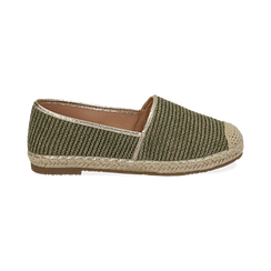 Espadrillas verdi in rafia, Chaussures, 154902099RFVERD036, 001 preview