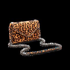 Borsa a tracolla leopard in microfibra, Borse, 123386501MFLEOPUNI, 003 preview