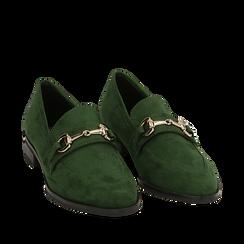 Mocasines de microfibra en color verde, Zapatos, 164964141MFVERD035, 002a