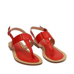 Sandalias de dedo rojas, 174957188EPROSS036, 002a