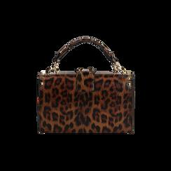 Borsa a mano borchiata leopard, IDEE REGALO, 165122990EPLEMAUNI, 003 preview
