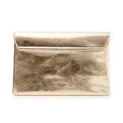 Bustina oro in eco-pelle, effetto metallizzato, Borse, 113308136LMOROGUNI, 003 preview