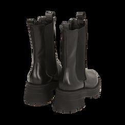 Chelsea boots neri in pelle di vitello, suola 6 cm , Primadonna, 168915835VINERO036, 003 preview