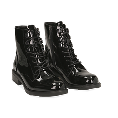 Polacchino nero in vernice , Scarpe, 14A776170VENERO035, 002 preview