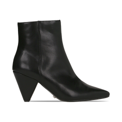 Tronchetti neri, tacco a cono 8 cm, Primadonna, 124993281EPNERO036, 001 preview