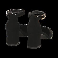 Décolleté nere in microfibra con cinturino, tacco 6 cm , Scarpe, 144942231MFNERO036, 004 preview