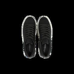 Sneakers nere con suola platform a righe 6 cm, Scarpe, 12A777615LYNERO, 004 preview