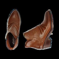 Ankle boots cuoio, tacco 4,50 cm, Primadonna, 150693110EPCUOI036, 003 preview