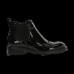 Chelsea Boots neri vernice, lavorazione Duilio, Scarpe, 120618206VENERO040, 001 preview