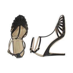 Sandali neri, tacco 10 cm , Primadonna, 172174211EPNERO036, 003 preview