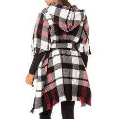 Poncho tartan noir/rouge, Primadonna, 18B400601TSNERSUNI, 002a