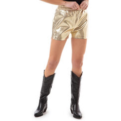 Shorts oro laminato , Primadonna, 176530100LMOROGL, 001a