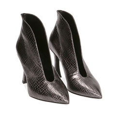 Ankle boots canna di fucile laminato, tacco 9,5 cm , Primadonna, 165200231LMCANN035, 002a
