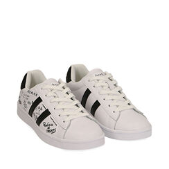 Sneakers blancas estampado cartoon,  Zapatos, 172621103EPBIAN035, 002a