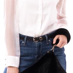 Cintura nera in eco-pelle, Abbigliamento, 144092449EPNEROUNI, 002a