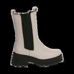 Chelsea boots bianchi in pelle di vitello , Primadonna, 168915835VIPANN035, 001a