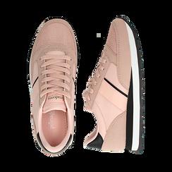 Sneakers nude in tessuto tecnico , Scarpe, 142619079TSNUDE035, 003 preview