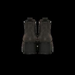 Chelsea Boots grigi in vero camoscio, tacco medio 5,5 cm, Scarpe, 127723509CMGRIG, 003 preview