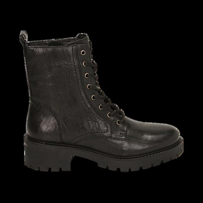 Amphibiens noirs en cuir, Primadonna, 169404101PENERO037