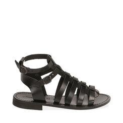 Sandales noir en cuir de vache, Primadonna, 178100803VANERO035, 001a
