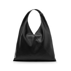 Hobo bag nera in eco-pelle, Borse, 141918028EPNEROUNI, 003 preview