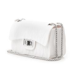 Mini-bag bianca in pvc, Primadonna, 137409999PVBIANUNI, 004 preview