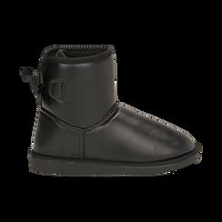 Stivali neri in eco-pelle, Stivaletti, 149916015EPNERO036, 001 preview