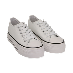 Sneakers bianche in canvas, Primadonna, 152619385CABIAN039, 002 preview