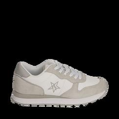 Sneakers en microfibra color blanco, Zapatos, 150620011MFBIAN036, 001a