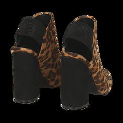 Mules leopard in microfibra, tacco 11 cm , Scarpe, 142186941MFLEOP035, 004 preview