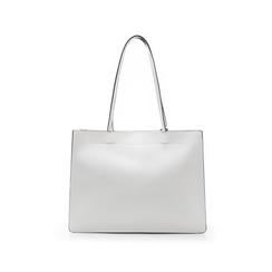 Borsa grande bianca in eco-pelle con design squadrato, Borse, 133763722EPBIANUNI, 003 preview