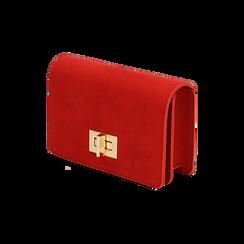 Borsa piccola rossa in microfibra , IDEE REGALO, 165122947MFROSSUNI, 002 preview