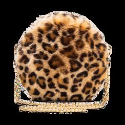 Tracollina leopard in eco-pelliccia, Saldi, 12B412001FULEOPUNI, 001 preview