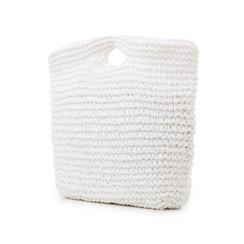 Borsa grande mare bianca in paglia intrecciata, Saldi Estivi, 134510176PGBIANUNI, 004 preview