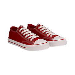 Sneakers rosse in canvas, Scarpe, 137300862CAROSS036, 002 preview