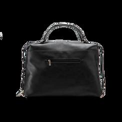 Maxi-bag nera in ecopelle, Primadonna, 122901475EPNEROUNI, 002 preview