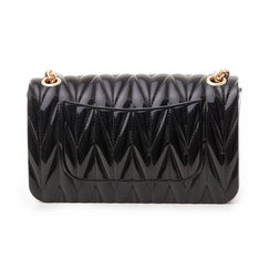 Mini-bag nera in pvc, Saldi Estivi, 137409999PVNEROUNI, 003 preview